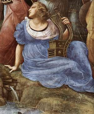 Reproduction oil paintings - Raphael - The Parnassus [detail: 4]
