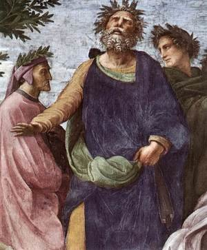 Reproduction oil paintings - Raphael - The Parnassus [detail: 7]