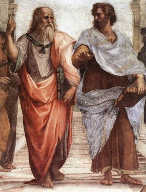 Reproduction oil paintings - Raphael - The School of Athens [detail: 1]
