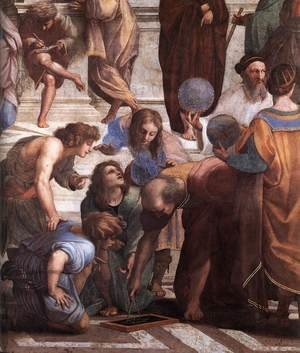 Reproduction oil paintings - Raphael - The School of Athens [detail: 3]