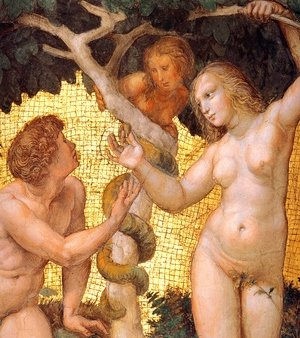 Reproduction oil paintings - Raphael - The Stanza della Segnatura Ceiling: Adam and Eve [detail: 1]