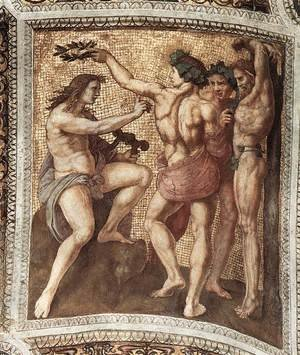 Reproduction oil paintings - Raphael - The Stanza della Segnatura Ceiling: Apollo and Marsyas