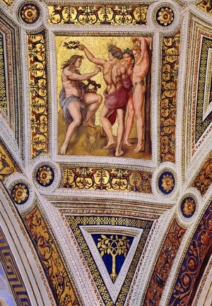 Reproduction oil paintings - Raphael - The Stanza della Segnatura Ceiling: Apollo and Marsyas [detail: 1]