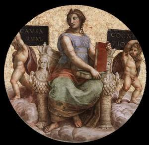 Reproduction oil paintings - Raphael - The Stanza della Segnatura Ceiling: Philosophy