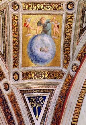 Reproduction oil paintings - Raphael - The Stanza della Segnatura Ceiling: Prime Mover [detail: 1]