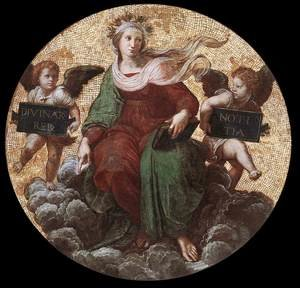 Reproduction oil paintings - Raphael - The Stanza della Segnatura Ceiling: Theology