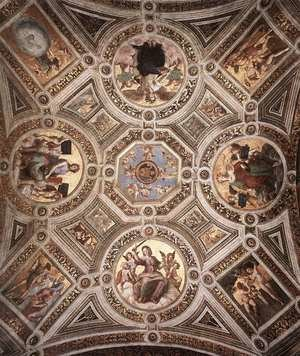 Reproduction oil paintings - Raphael - The Stanza della Segnatura Ceiling