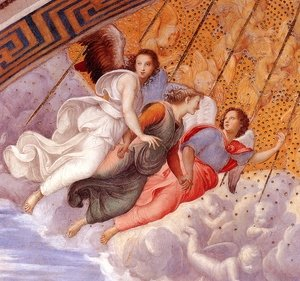 Reproduction oil paintings - Raphael - The Stanza della Segnatura Ceiling [detail: 1]
