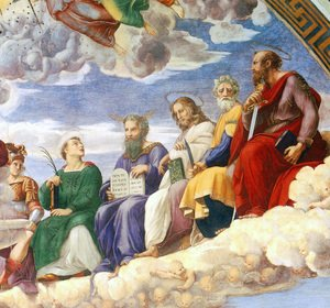 Reproduction oil paintings - Raphael - The Stanza della Segnatura Ceiling [detail: 3]