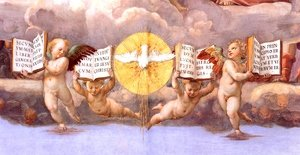 Reproduction oil paintings - Raphael - The Stanza della Segnatura Ceiling [detail: 4]