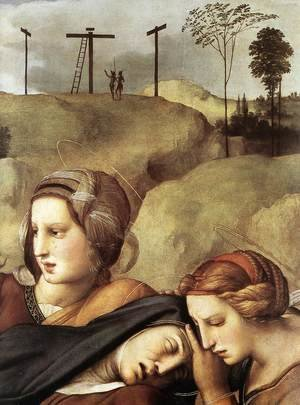 Reproduction oil paintings - Raphael - The Entombment [detail: 1]