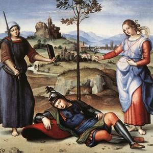 Reproduction oil paintings - Raphael - Allegory (or The Knight's Dream)