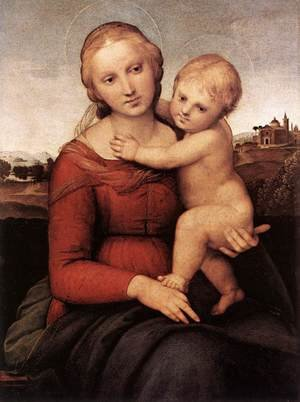Reproduction oil paintings - Raphael - Madonna and Child (or The Small Cowper Madonna)
