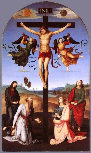 Reproduction oil paintings - Raphael - Crucifixion (Città di Castello Altarpiece)