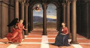 Reproduction oil paintings - Raphael - The Annunciation (Oddi altar, predella)