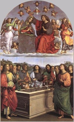 Reproduction oil paintings - Raphael - The Crowning of the Virgin (Oddi altar)