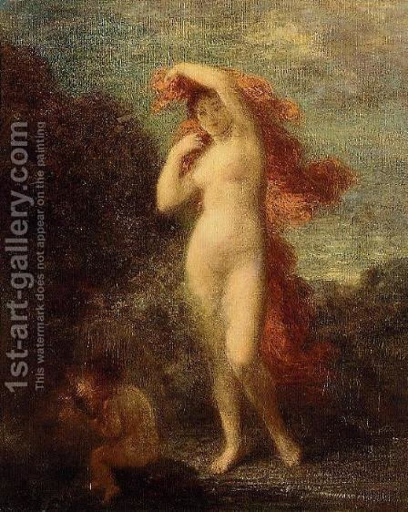 Venus and Cupid by Ignace Henri Jean Fantin-Latour - Reproduction Oil Painting