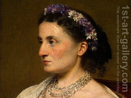 Duchess de Fitz-James [detail: 1] by Ignace Henri Jean Fantin-Latour - Reproduction Oil Painting
