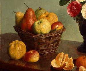 Famous paintings of Apples: Still Life [detail: 1]