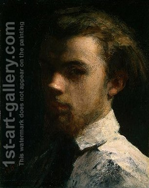 Self-Portrait by Ignace Henri Jean Fantin-Latour - Reproduction Oil Painting