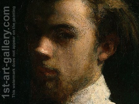 Self-Portrait [detail: 1] by Ignace Henri Jean Fantin-Latour - Reproduction Oil Painting