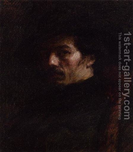 Portrait of Alphonse Legros by Ignace Henri Jean Fantin-Latour - Reproduction Oil Painting