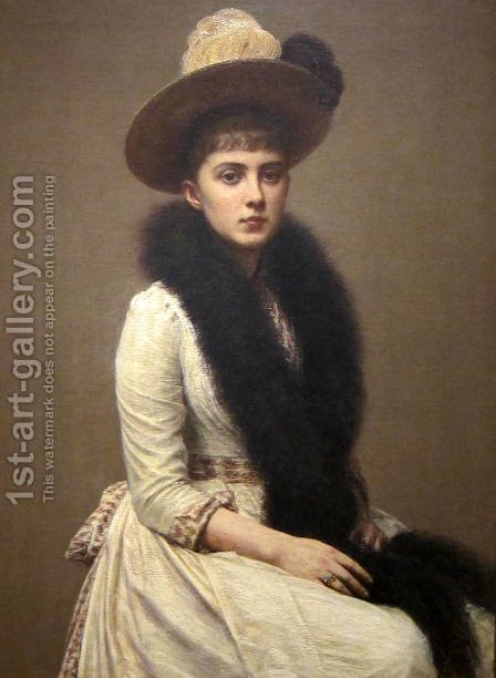 Portrait of Sonia by Ignace Henri Jean Fantin-Latour - Reproduction Oil Painting