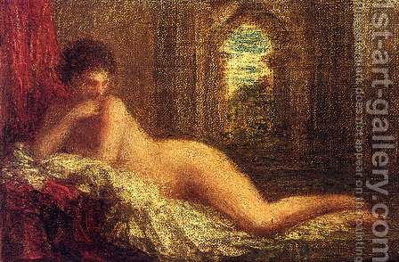 'Petite Orientale Couchee' by Ignace Henri Jean Fantin-Latour - Reproduction Oil Painting