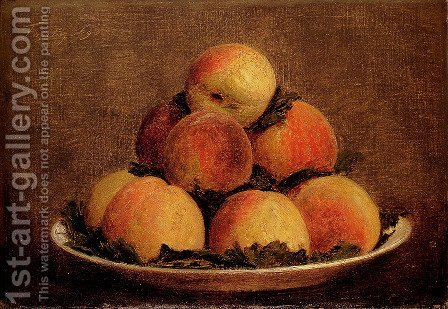 Peaches by Ignace Henri Jean Fantin-Latour - Reproduction Oil Painting
