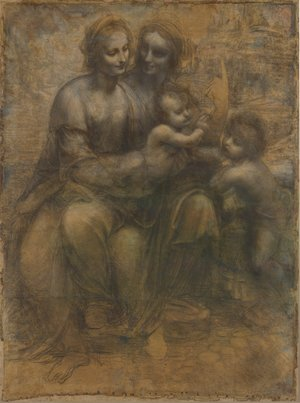 Reproduction oil paintings - Leonardo Da Vinci - Madonna and Child with St Anne and the Young St John
