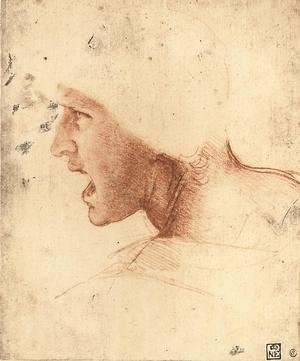 Reproduction oil paintings - Leonardo Da Vinci - Head of a Warrior (or 'The Red Head')