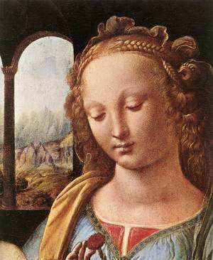 Reproduction oil paintings - Leonardo Da Vinci - The Madonna of the Carnation [detail: 1]