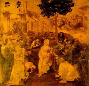 Reproduction oil paintings - Leonardo Da Vinci - Adoration of the Magi