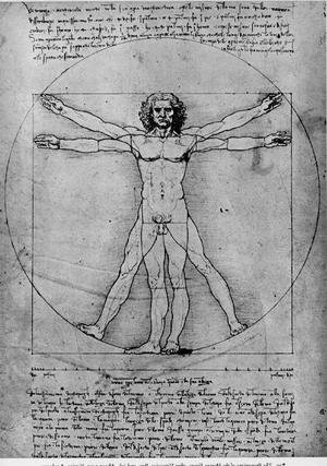 Reproduction oil paintings - Leonardo Da Vinci - Vitruvian Man, Study of proportions, from Vitruvius's De Architectura