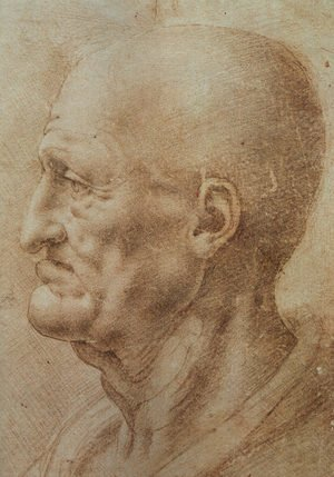 Reproduction oil paintings - Leonardo Da Vinci - Study of an Old Man's Profile