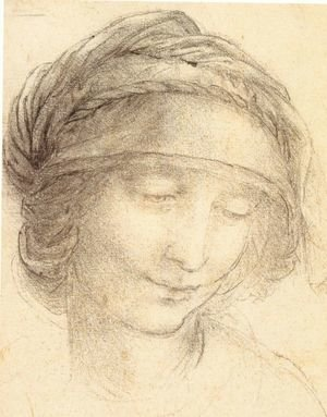 Reproduction oil paintings - Leonardo Da Vinci - Head of a woman