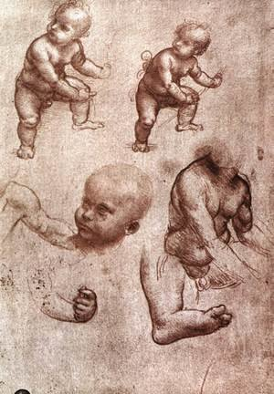 Reproduction oil paintings - Leonardo Da Vinci - Study of a child