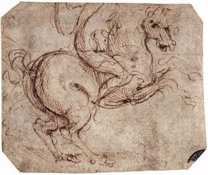 Reproduction oil paintings - Leonardo Da Vinci - Study of a rider