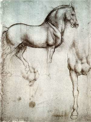Famous paintings of Transportation: Study of horses