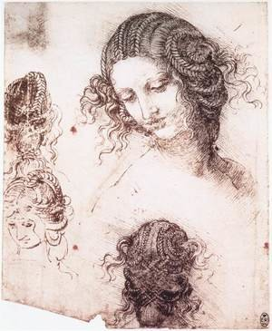 Reproduction oil paintings - Leonardo Da Vinci - Head of Leda