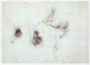 Reproduction oil paintings - Leonardo Da Vinci - Studies of Leda and a horse