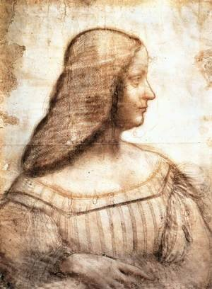 Reproduction oil paintings - Leonardo Da Vinci - Isabella d'Este