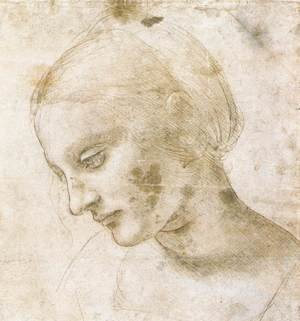 Reproduction oil paintings - Leonardo Da Vinci - Study of a woman's head