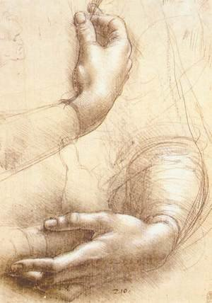Reproduction oil paintings - Leonardo Da Vinci - Study of hands