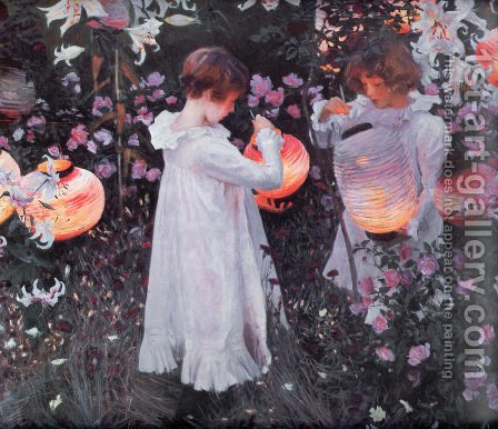 Sargent: Carnation, Lily, Lily, Rose - reproduction oil painting