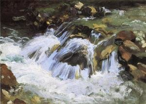 Reproduction oil paintings - Sargent - A Mountain Stream, Tyrol