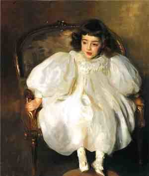 Reproduction oil paintings - Sargent - Expectancy (or Portrait of Frances Winifred Hill)