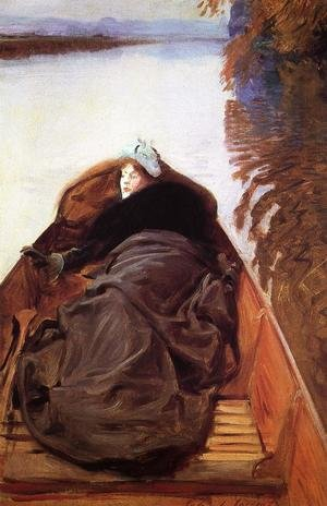 Reproduction oil paintings - Sargent - Autumn on the River (or Miss Violet Sargent)