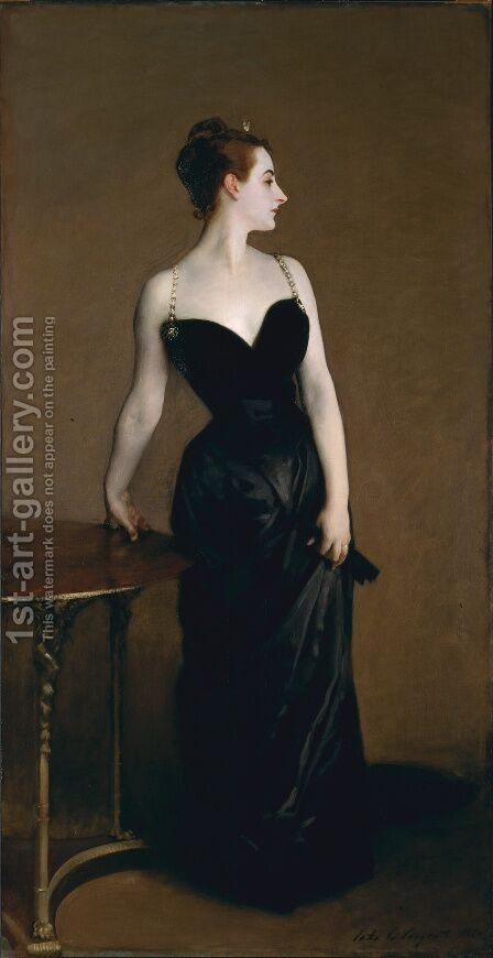 Madame X (or Madame Pierre Gautreau) by Sargent - Reproduction Oil Painting
