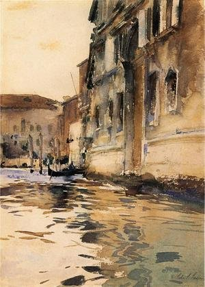 Reproduction oil paintings - Sargent - Venetian Canal, Palazzo Corner
